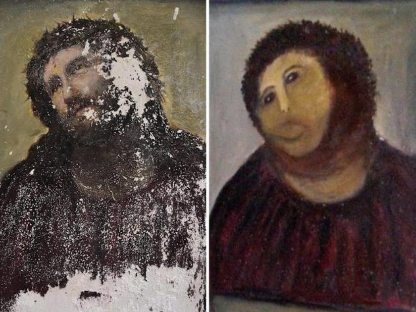 Verknoeier van fresco is nu rijk