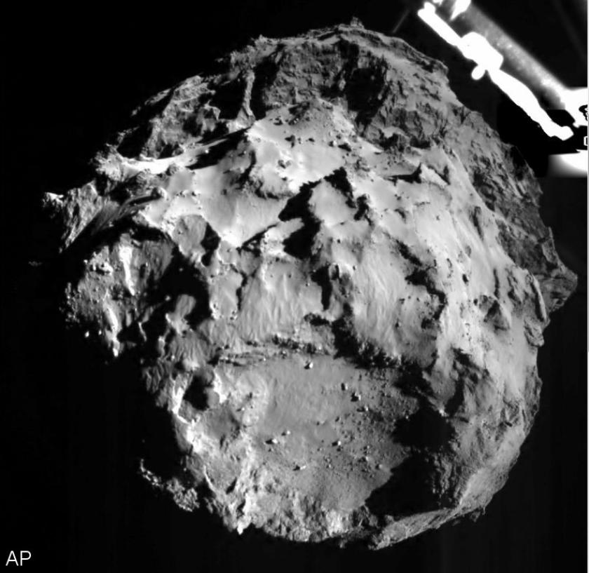 Komeetlander Philae stabiel na aantal stuiteringen