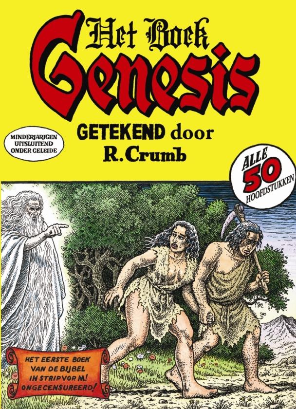 Crumb tekent Genesis met respect