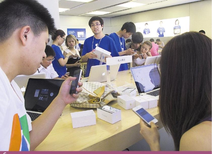 Apple-gekte gijzelt Chinezen