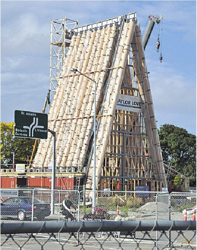 Kartonnen kathedraal in Christchurch geopend