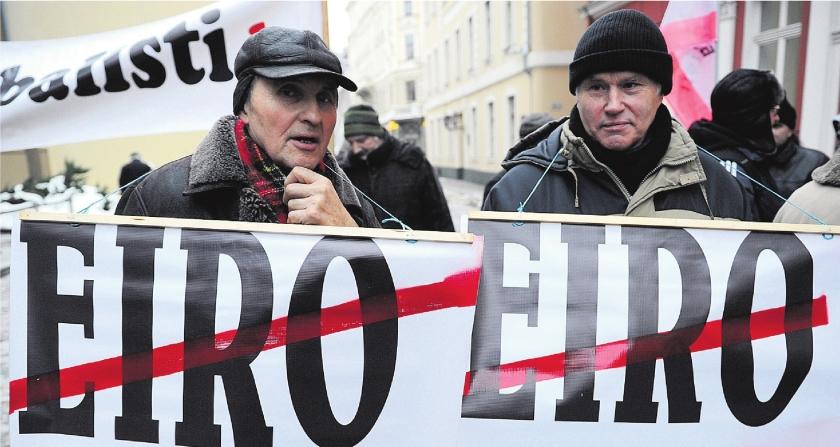 Voor veel Letten hoeft de euro niet