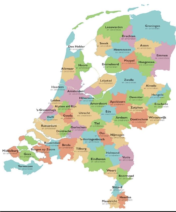 Het ideale aantal van 57 gemeenten