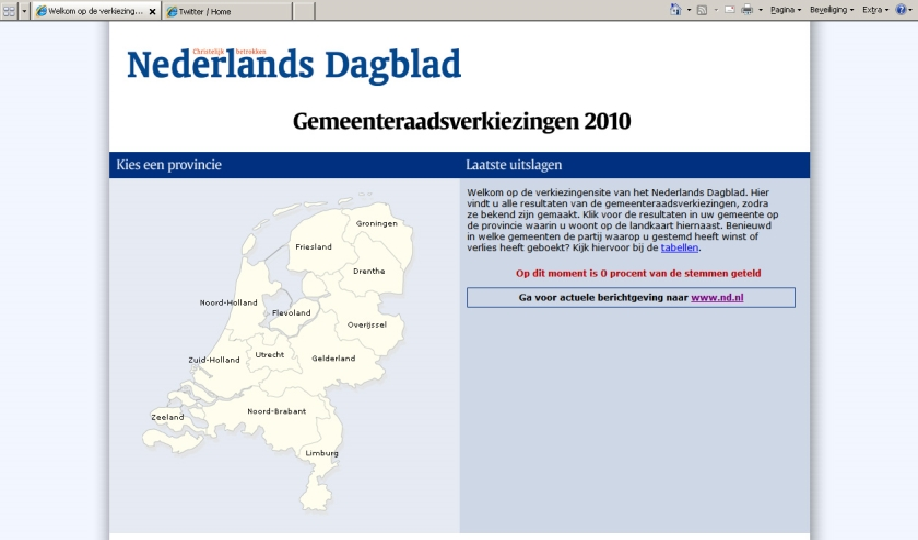 Alle uitslagen op www.verkiezingensite.nl