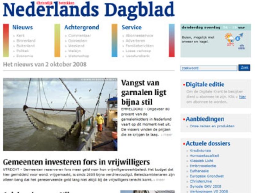 Nieuwe website ND online