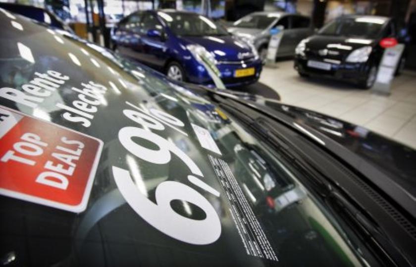 Autoverkopen met een vijfde omhoog