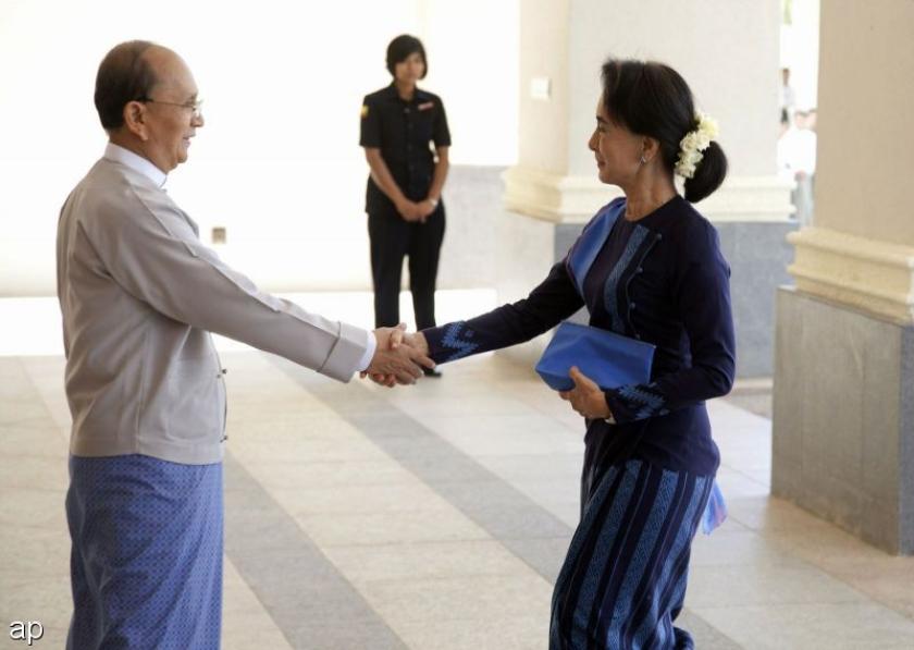 Topoverleg in Myanmar met Suu Kyi