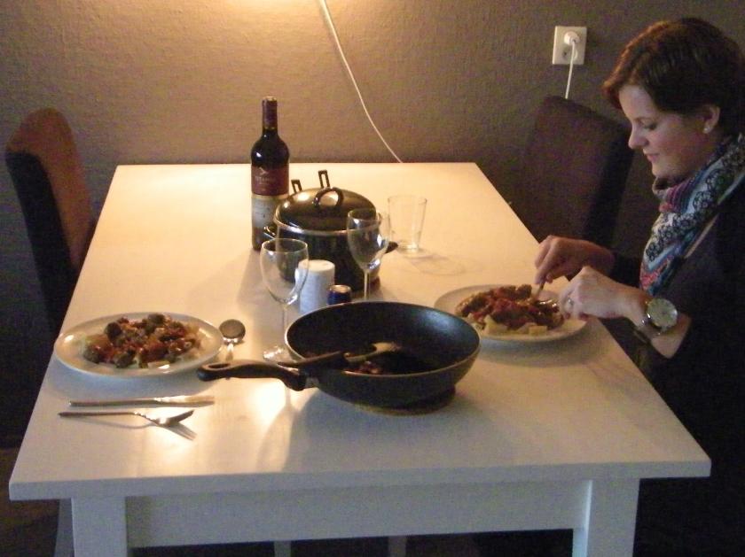 Redacteur in de keuken: pasta met worst, champignons en tomaat