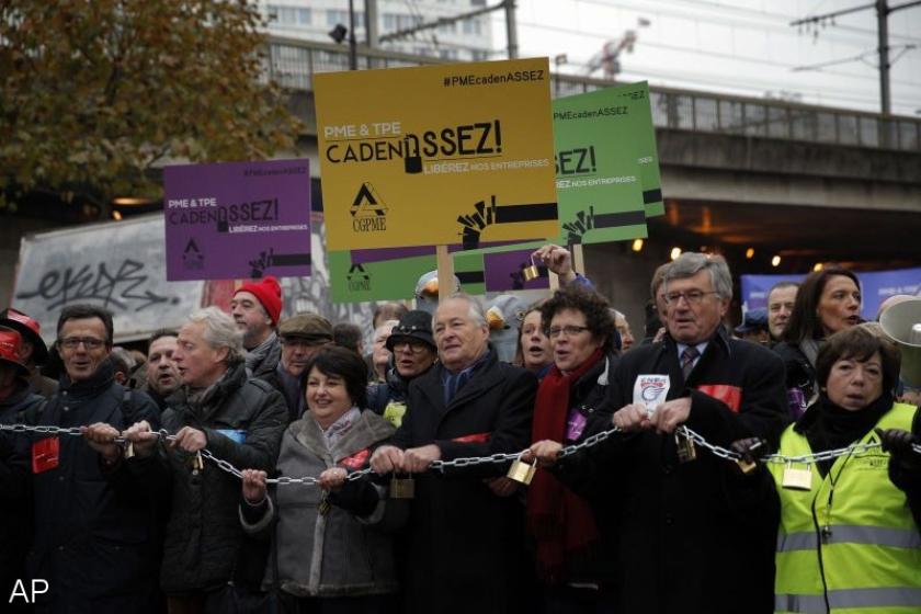 Franse werkgevers betogen tegen regels en lasten