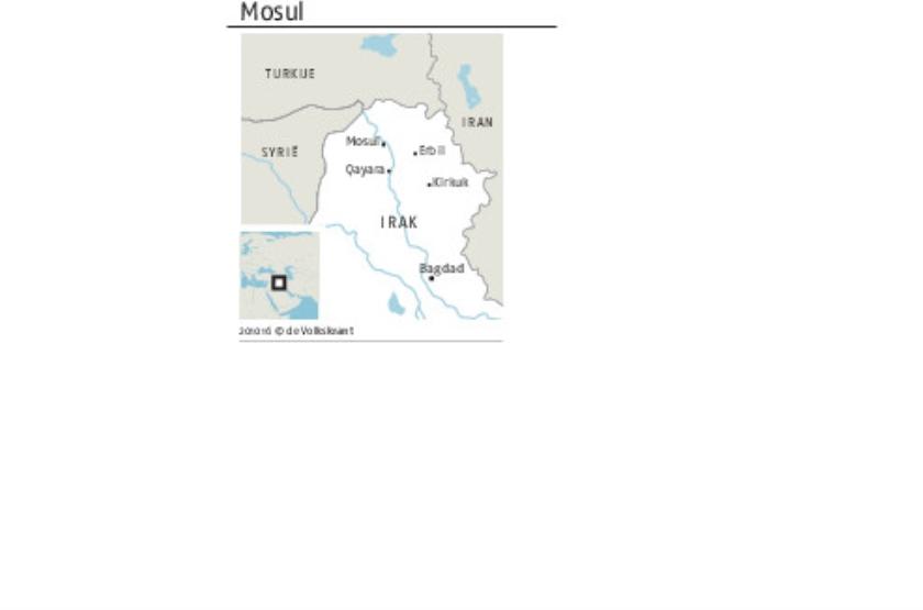 Boven slagveld van Mosul breekt de zon niet meer door  (ap / Marko Drobnjakovic)