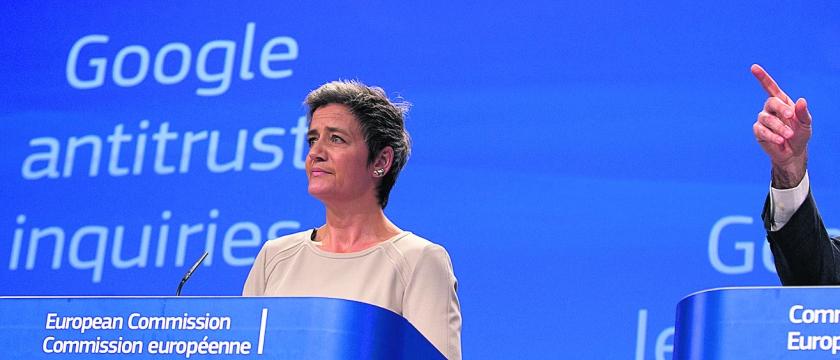 Europese Commissie pakt Google aan Google verkoopt geen producten, maar consumenten  (ap / Virginia Mayo)