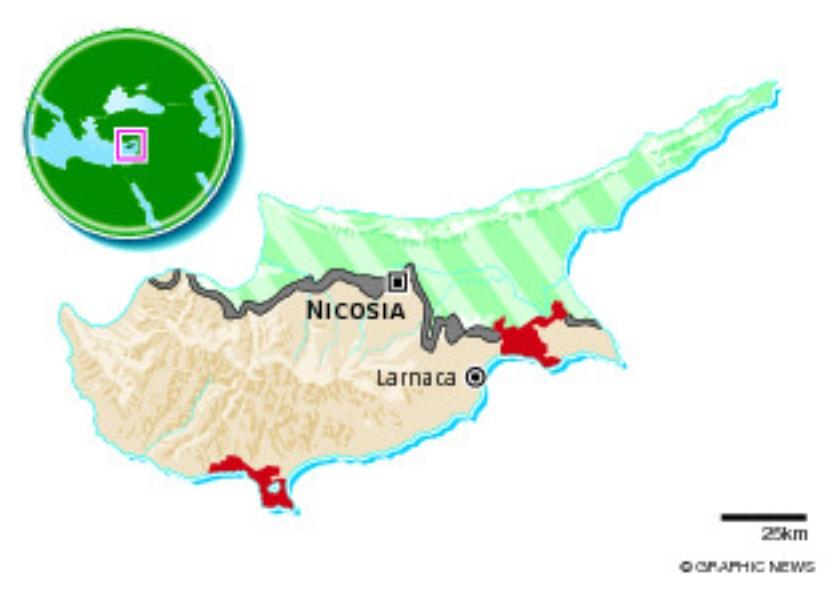 In de schaduw van Griekenland kreeg Cyprus succesvol shocktherapie  (ap / Petros Karadjias)