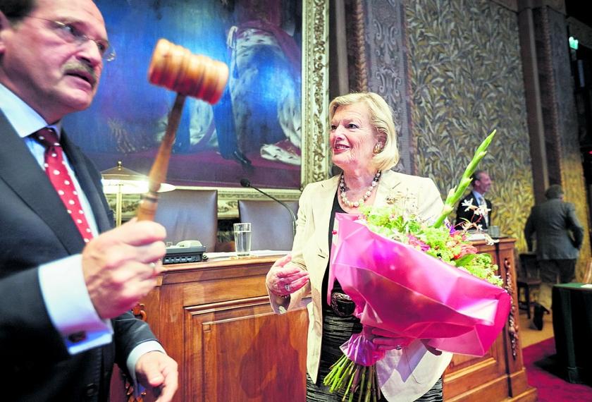 Eerste Kamer herkiest met algemene stemmen Ankie-Broekers-Knol tot voorzitter  (anp / Martijn Beekman)