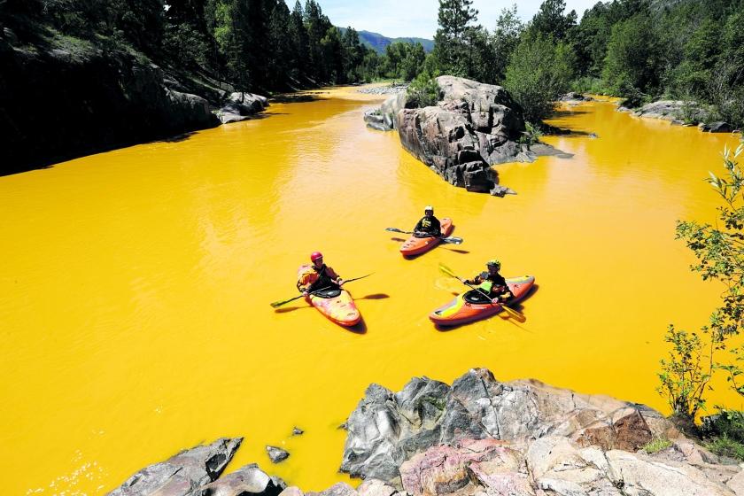 Twee oogverblindend gele rivieren in Colorado  (ap / Jerry McBride)