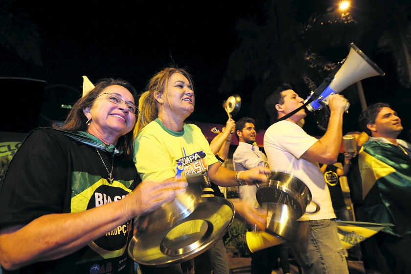 Brazilië eensgezind anti-Rousseff  (ap / Eraldo Peres)