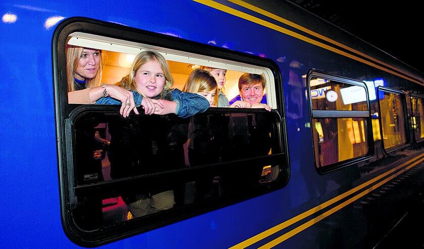 De koninklijke trein maakt een tochtje  (anp / Robin Utrecht)