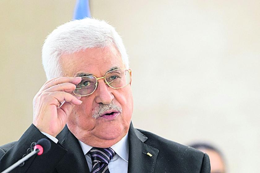 Abbas wacht kritisch onthaal  (ap / Martial Trezzini)