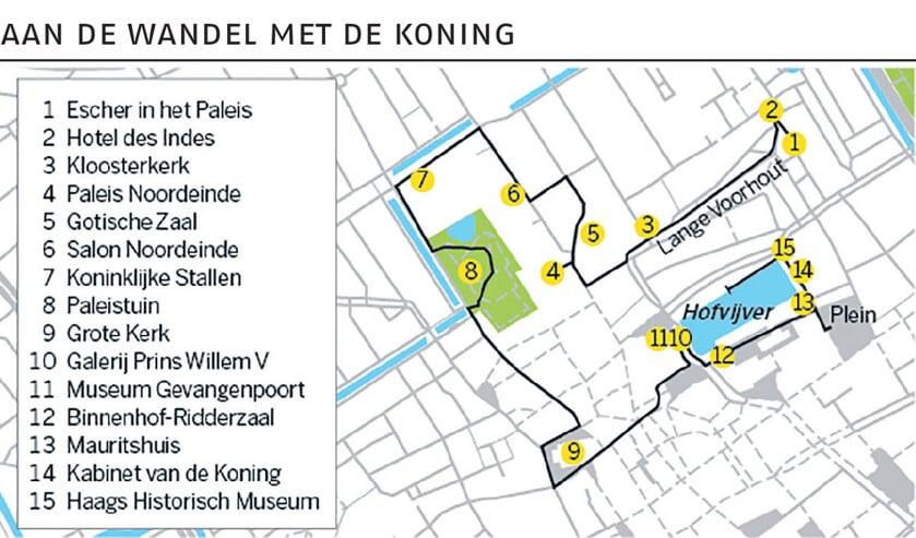 Koninklijke wandelroute in Den Haag