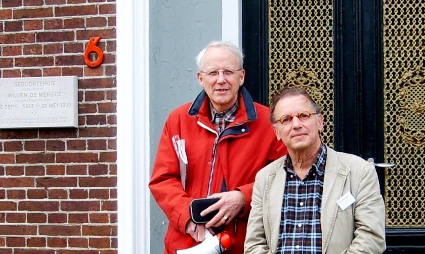 Willem Jan Otten en Hans Werkman houden de eerste Willem de Mérode-lezing  (boekhandel riemer)