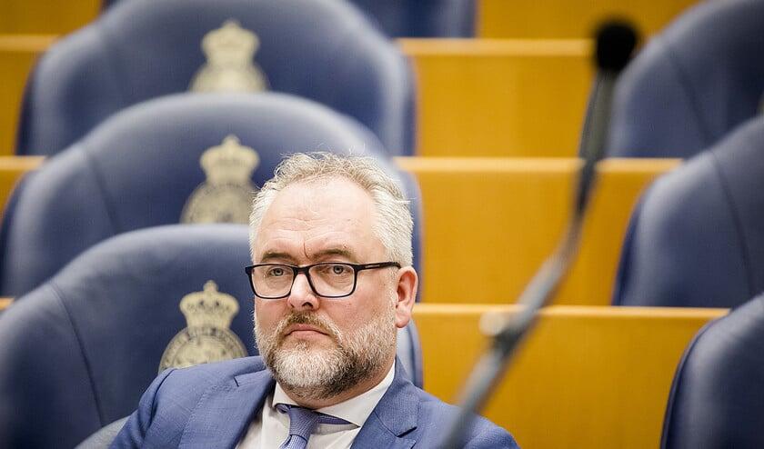 Wim-Jan Renkema (GroenLinks): opletten, want de microfoon staat hier altijd open  (anp / Bart Maat)