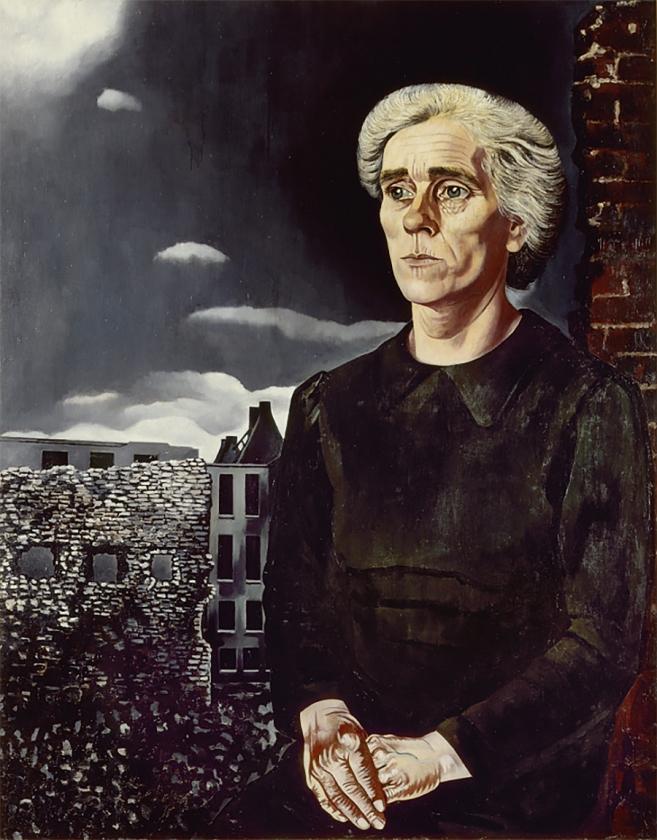 Raadsel opgelost over vrouw die staat afgebeeld op het schilderij Arbeidersvrouw van Charley Toorop   (stedelijk museum amsterdam)