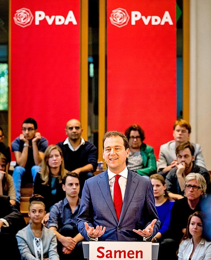 Vicepremier Lodewijk Asscher wil lijsttrekker worden van de PvdA. 'Ik ben een politicus die niet de status quo wil verdedigen, maar onrecht wil bestrijden.'   (anp / Koen van Weel)
