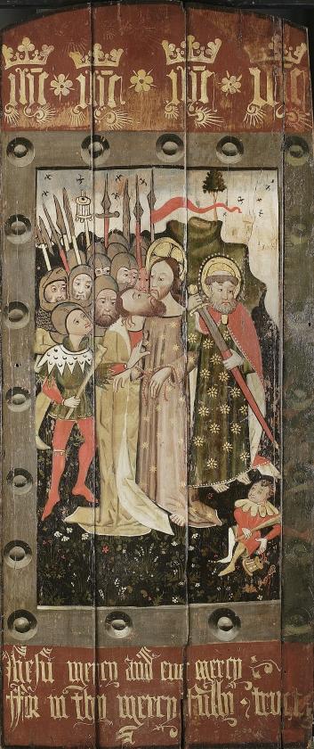 De eeuwenoude schildering van het verraad van Judas Iskariot.   (nd)