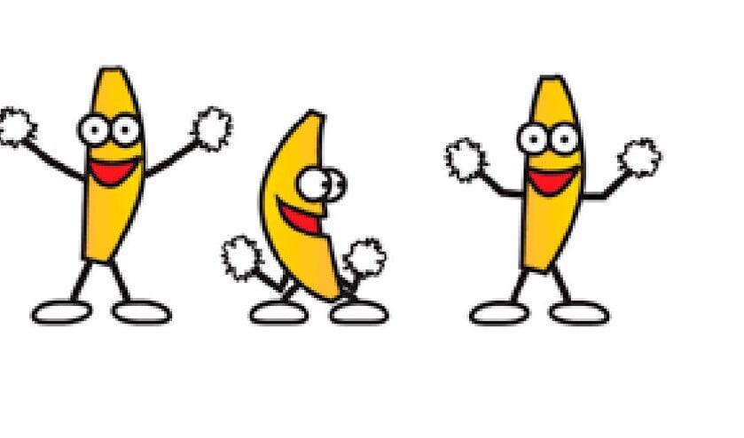 De dansende bananen, de populairste emoticon van Hyves.  (nd)
