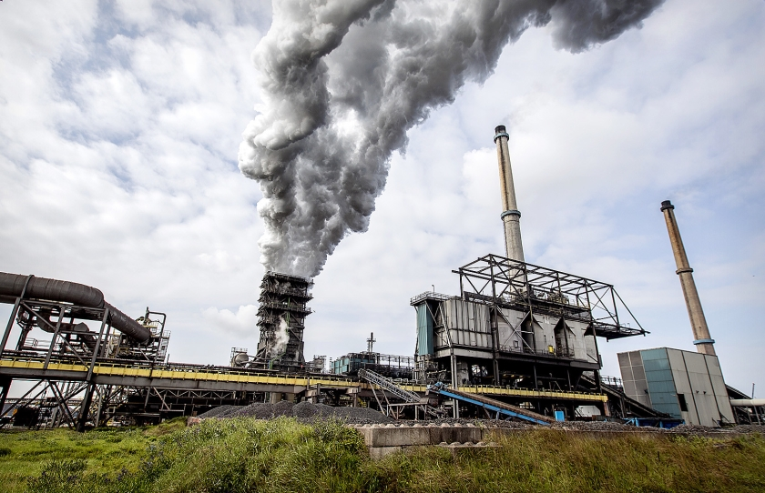 Het terrein van staalproducent Tata Steel.  (anp / Koen van Weel)
