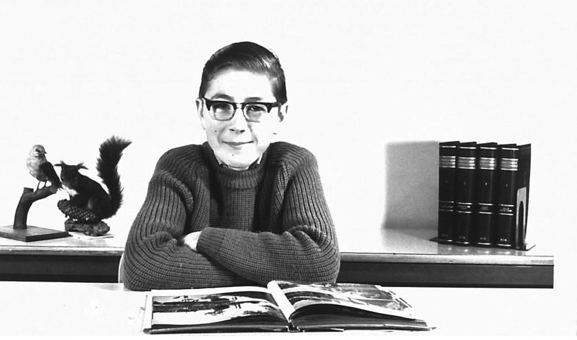 'Deze foto is van 1966, ik was 13.  Als kind las ik veel