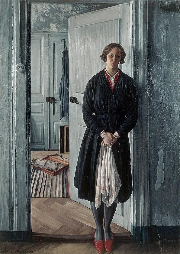 Aurèle Barraud, De huisvrouw (Portret van Mevrouw M.), circa 1932.   (museum more)
