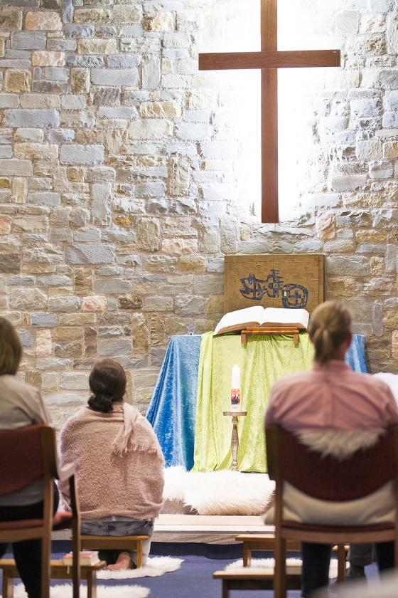 Elke maandag is er een morgengebed in de kapel van het Centrum voor Christelijke Spiritualiteit.   (Jeroen Jumelet)