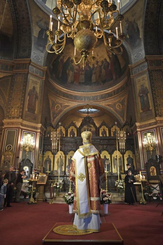 Aartsbisschop Jean van Charioupolis, die op 7 september een roerige stemming organiseerde over aansluiting bij Moskou.   (afp / Stephane De Sakutin)