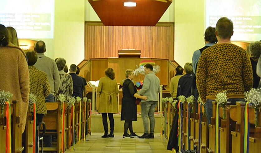De avond in Bunschoten trok 350 bezoekers.  (nd)