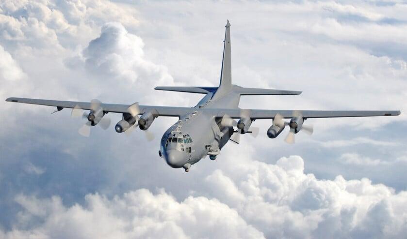 Een Hercules C-130 gunship, het toestel dat de Amerikanen urenlang inzetten bij de aanval op 7 februari.  (wikimedia)