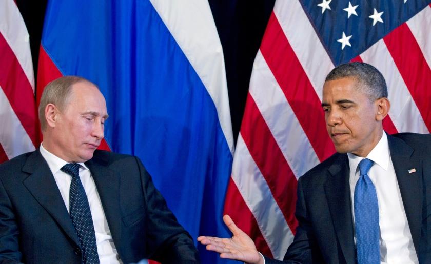 De moord in 2011 op de Libische leider Muammar Gadhafi wekte de woede van de Russische president Vladimir Putin.  (ap / Carolyn Kaster)