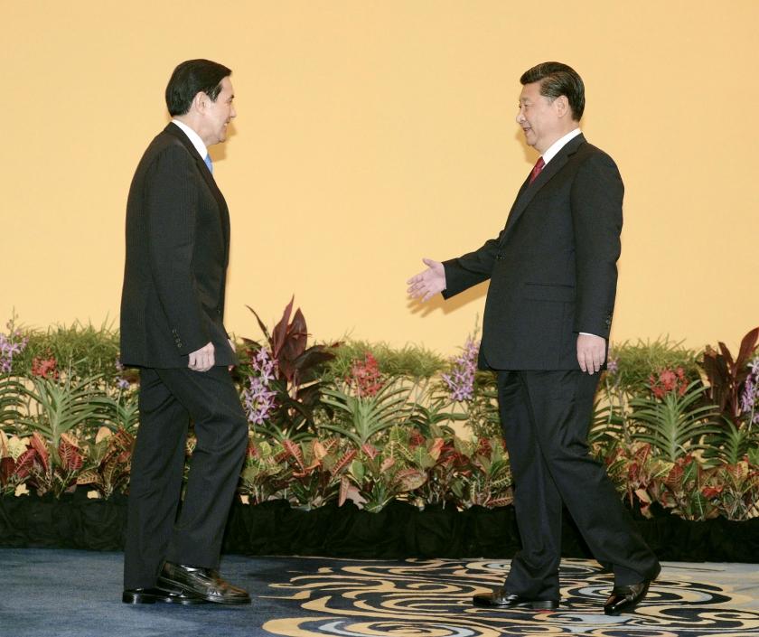 Leiders China en Taiwan schudden de hand  (ap /)