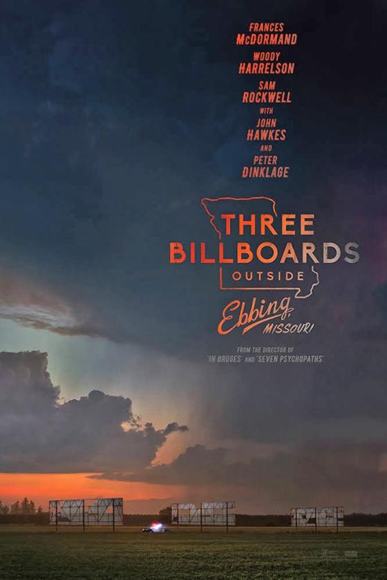 Britse filmprijs voor actuele 'Three Billboards'   (nd)