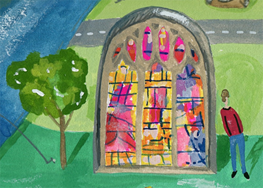 De unieke ramen van glaskunstenaar Thomas Denny  (James O. Davies, Rebecca Lane en nd)