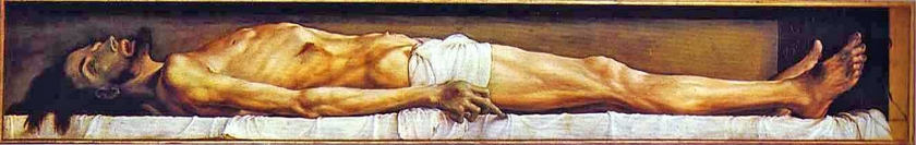The Body of the Dead Christ in the Tomb, Hans Holbein  (nd)