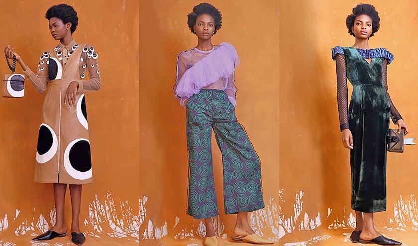 Het Nigeriaanse modelabel Maki Oh is ook geliefd buiten Afrika.  (najaarscollectie 2016 Maki Oh)