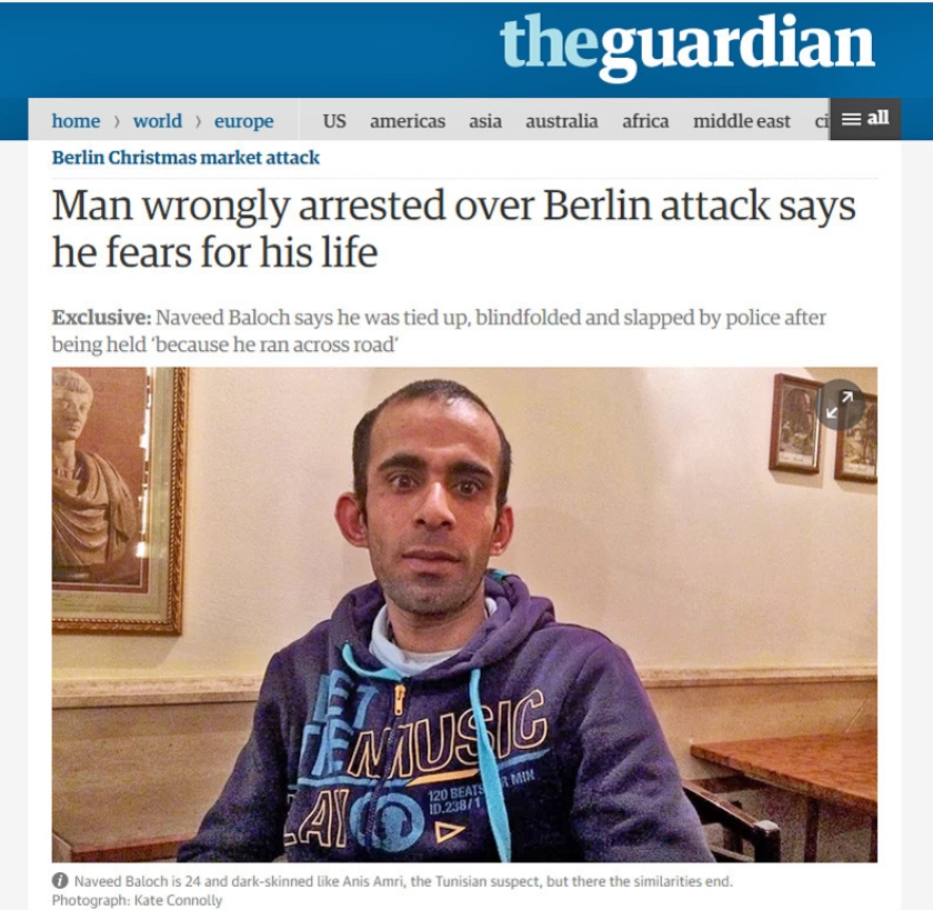 Naveed Baloch  (the guardian)
