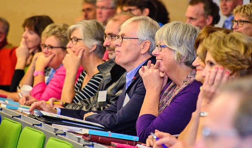 Het symposium 'Stuk geluk' werd bijgewoond door mediators, therapeuten, coaches, predikanten en kerkelijk werkers.  (Hans-Lukas Zuurman)