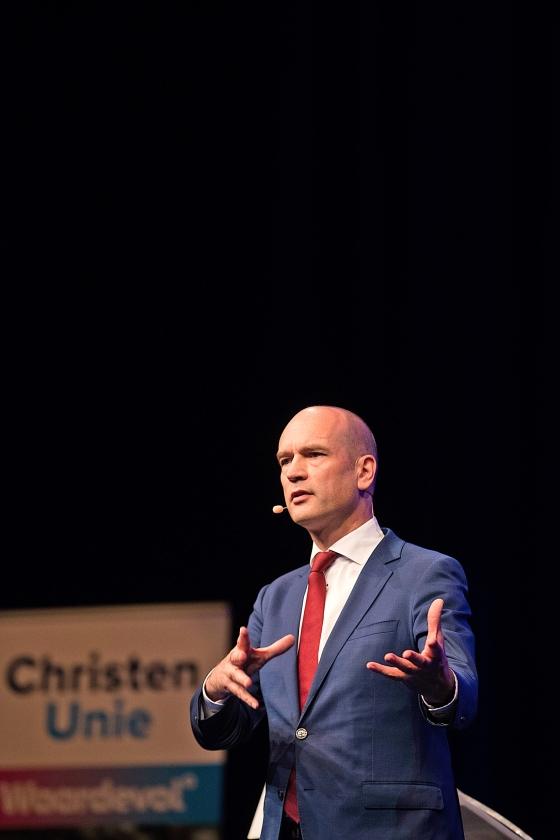 ChristenUnie-leider Gert-Jan Segers: 'Ik merk dat we meer een campagnevoerende partij zijn geworden.'   (anp / Jeroen Jumelet)