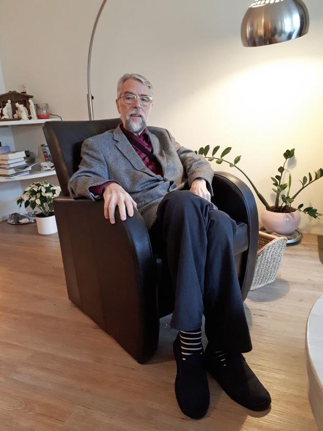 Hans Eschbach: 'Je moet wel weten achter wie je aanloopt, anders verdwaal je.'   (nd)