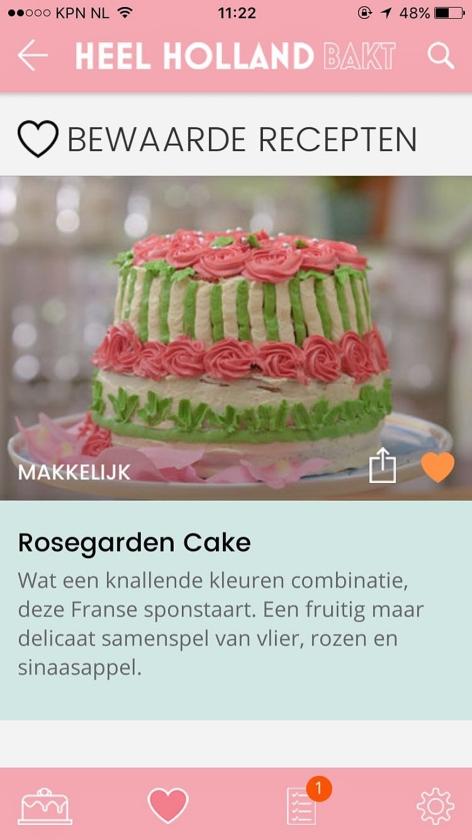 Apps: Moment en Heel Holland Bakt   (nd)