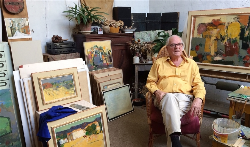 Kunstschilder Thijs Buit (85): ´Het laat zich niet zeggen, maar wel schilderen  (Thijs Buit)