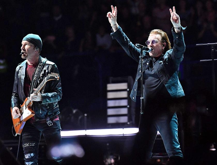 Hoe toepasselijk de tekst ook mag zijn, liever geen U2 in een kerkdienst.  (epa / Daniel dal Zennaro)
