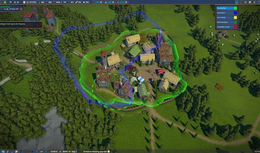 Fascinerende stedenbouw in game Foundation  (nd)