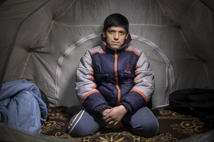 Mikdad uit Pakistan, 12 jaar.  (Cigdem Yuksel)